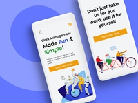 Team Management App - Landing Page
