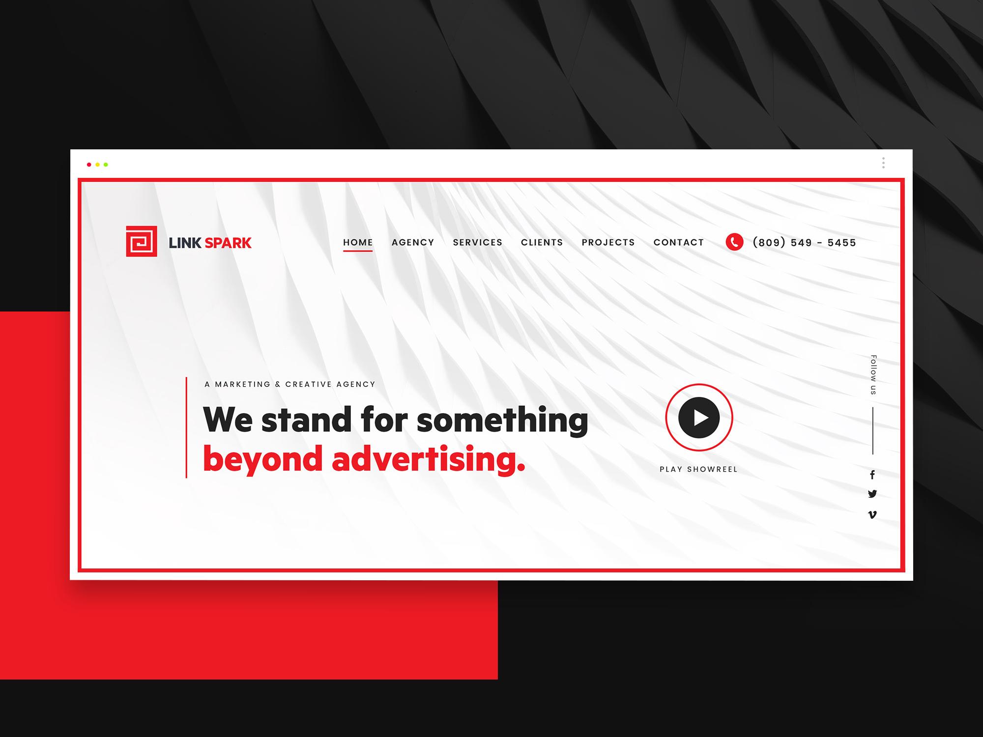 050 modern agency website