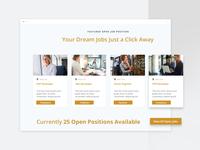 Job Search And Job Listing - Landing page