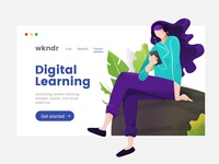 Modern Illustration For eLearning Platform