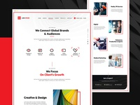 Clean And Minimal Website For Advertising Agency