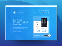Cryptocurrency Trading Platform Landing Page
