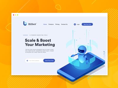 Web design for marketing platform