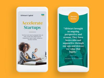 Capital venture web design
