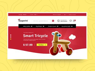 Toy online store - web design