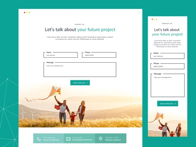 Contact form design for solar company