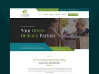 Web design for courier company