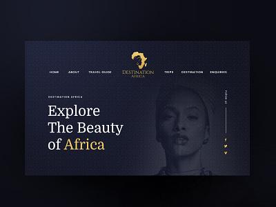 Africa travel agency - web design beauty etnic women tour tours tourism adventure landing page landingpage webdesign web design website luxury design luxurious luxury modern chic elegant travel africa