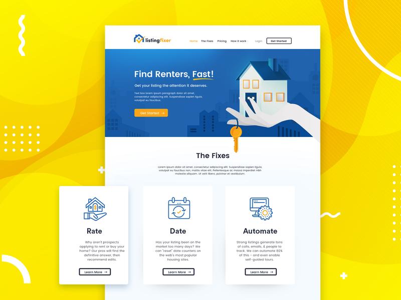 Property listing - landing page design