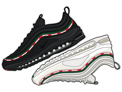 Undefeated x Nike Air Max 97 nike air nike air max air max 97 air max illustration shoes sneakers undftd undefeated nike
