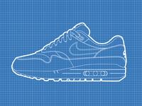 Nike Air Max 1 Blueprint