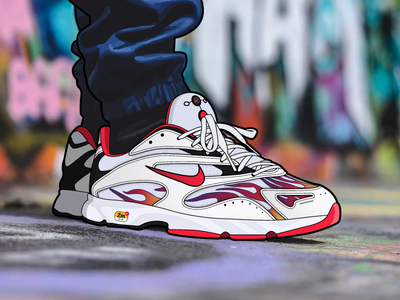 Supreme x Nike Air Streak Spectrum Plus air kicks shoes illustrator illustration sneakers supreme nike