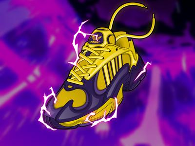 Adidas 'Golden Frieza' Yung-1 concept dragon ball z dragon ball dbz illustrator illustration footwear shoes kicks sneaker sneakers adidas