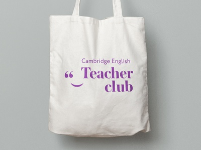Cambridge Teacher Club teachers engilsh tote bag bag branding logotype logo