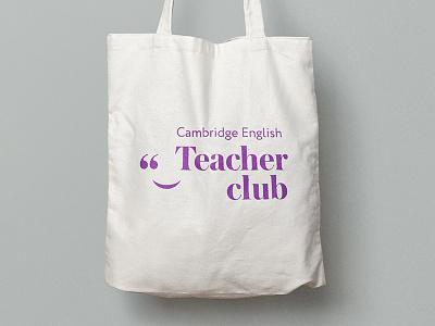 Cambridge Teacher Club teachers engilsh tote bag bag branding logotype logo