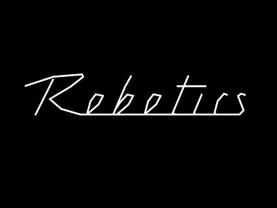 Robotics chromeography lettering