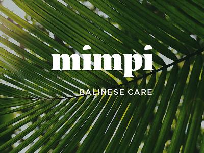 Balinese cosmetics brand cosmetics typography branding brand wordmark logotype logo