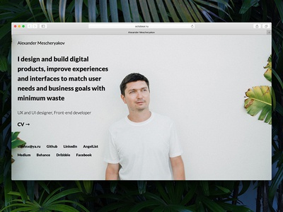 Personal website update code design in browser tropical github pages github nodejs photo portfolio website