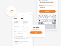 Crypto exchange web app