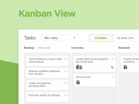 Task Management —Kanban View