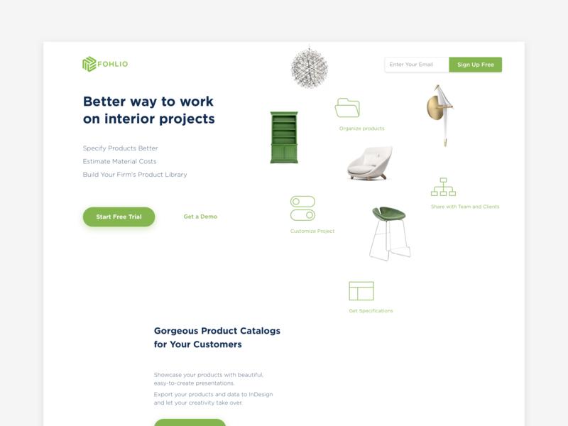 Landing page exploration landing page typography web design web ux web app website app