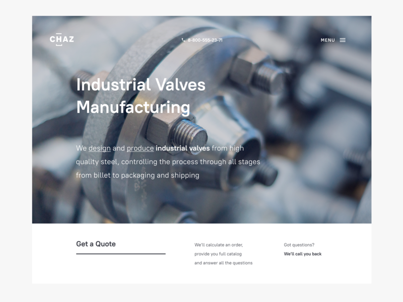 Industrial Valves Website typography photography web web design design website