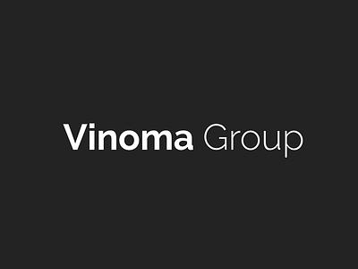 Vinoma Group brand identity brand identity icon typography vector logo design branding minimal