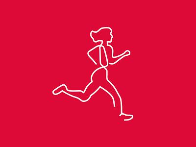 Runner Line Art lineart illustration logo minimal design