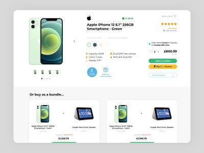 Product page redesign: Ebuyer webpage web design ux clean css html web development web page page product minimal ui design