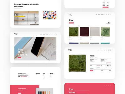 Field Tiles interior design ui conversion website layout design adchitects webdesign