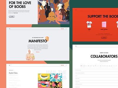 Boobs: an artbook website breast cancer boobs illustration ui designer conversion website webdesign layout design adchitects