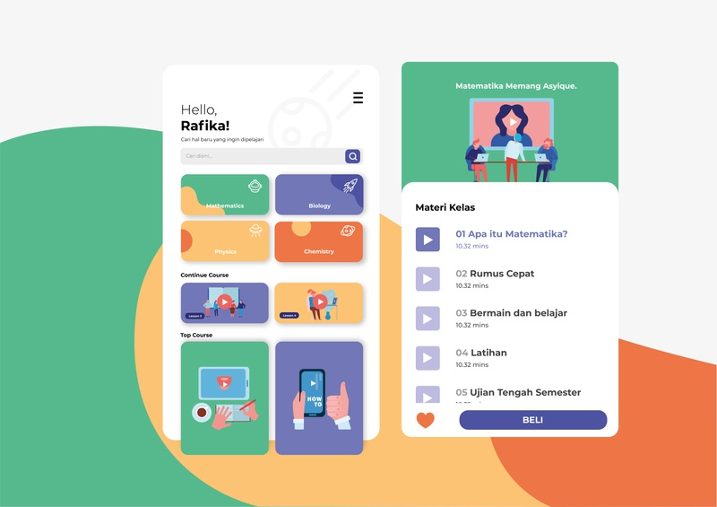 App E-Learning icon design app ui