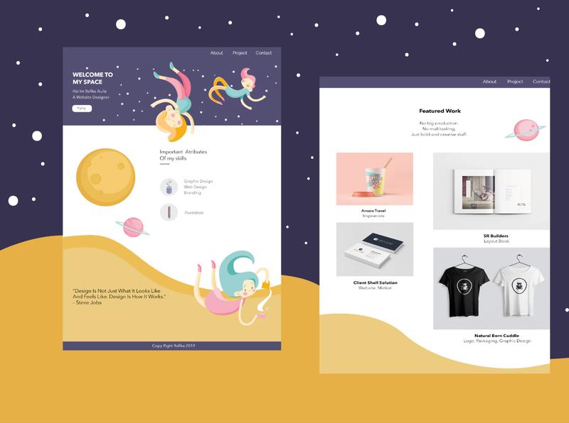 Personal Website flat web ui ux design
