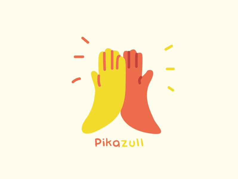 pikazull flat branding design logo