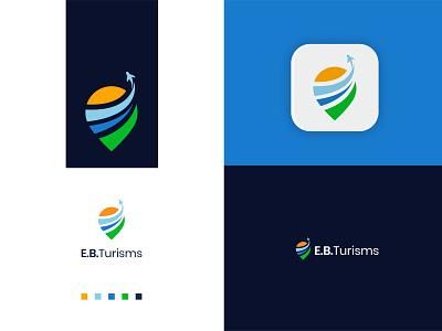 E.B.Turisms illustration design logo logodeaign graphic icon graphic design branding logo design logo logo icon