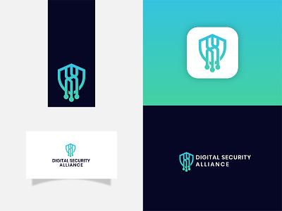 Digital Security Alliance design logo logodeaign graphic icon graphic design branding logo design logo logo icon
