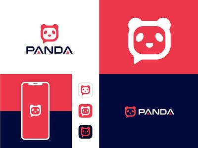 PANDA Chat Bot Logo Design ui illustration design logo logodeaign graphic icon graphic design branding logo design logo logo icon