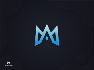 Al Mamun, Modern A+M Logo ui illustration design logo logodeaign graphic icon graphic design branding logo design logo logo icon