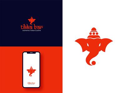 Tikka Bar - Unsold Indian Restaurant Logo illustration design logo logodeaign graphic icon graphic design branding logo design logo logo icon