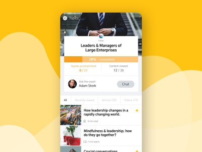 Intao - App for digital soft skill learning minimal mobile ui mobile app mobile iphone ios yellow flat details digital learning learning clean product product design design concept ui ux app design app