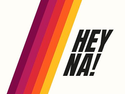 Logo for Hey na! film production typography type retro minimal logotype logodesign logo identity hey graphic design font flat design creative color clean branding design branding brand identity brand