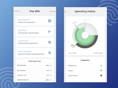 Spending Habits and Bill Payments - Fintech Application