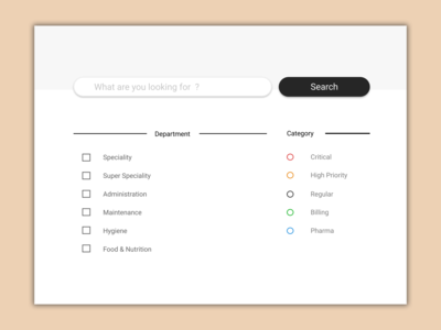 Search Bar with filters - Usable UI