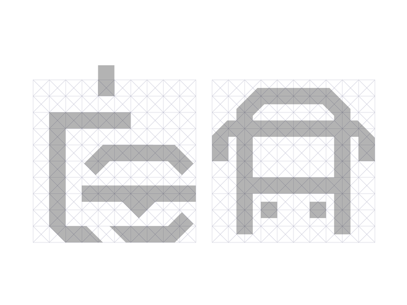 Grid grid pictogram icon