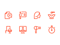 EMS icons hair beauty pictogram icon