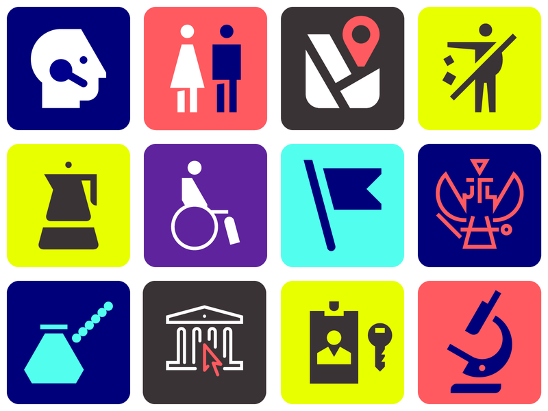 Various pictogram icon