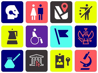 Various pictogram icon