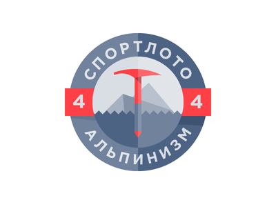 Sportloto in blue two colors annoying sportloto blue badge alpinism nothing