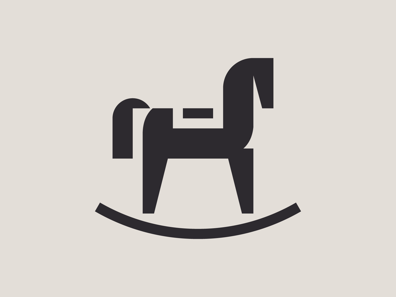Rocking horse rocking chair rocking horse pictogram icon