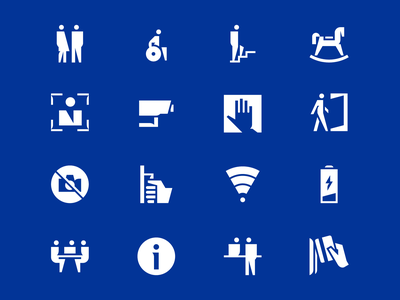 GPB pictograms rocking horse icon system service woman disabled man wayfinding signage pictogram icon